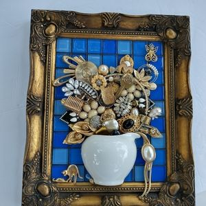 Hand crafted art vintage jewelry handmade gold